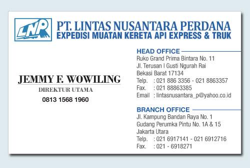 CARGO ONLINE : Expedisi PT. Lintas Nusantara Perdana