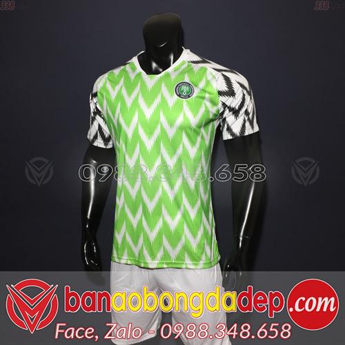 Áo Nigeria xanh lá sân nhà 2019