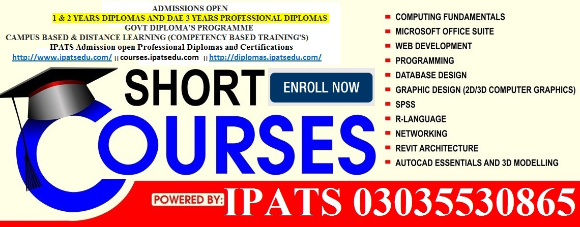 Govt Professional Diplomas and Certifications Courses Rawalpindi Pakistan