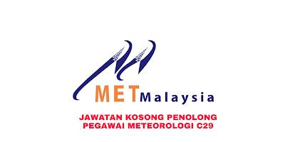 Permohonan Jawatan Kosong Penolong Pegawai Meteorologi C29 2019