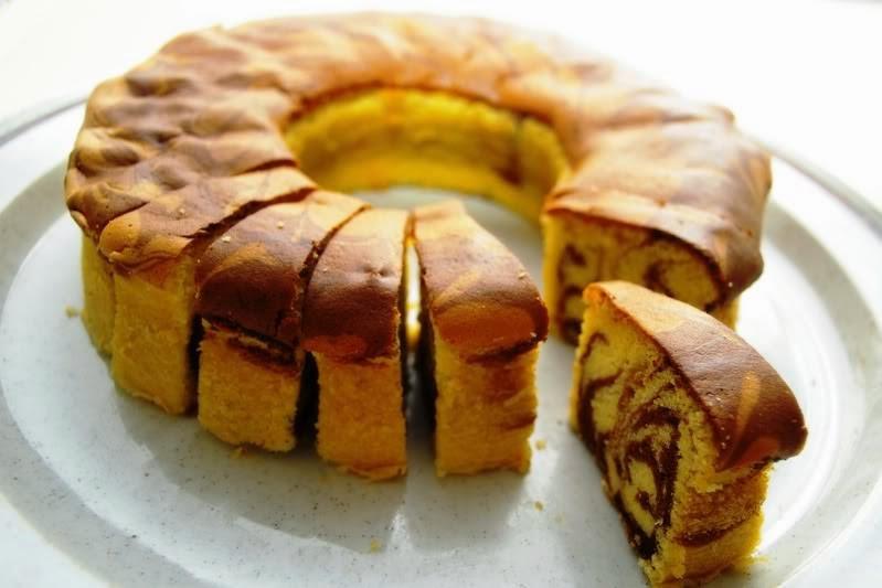 Resep Bolu Jadul Bakar: Resep Marmer Cake