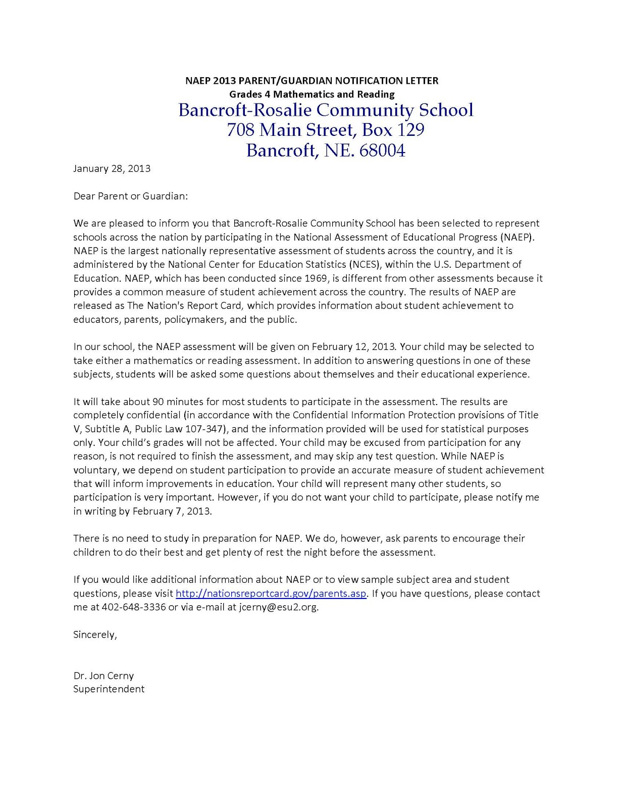 73 Free Grade Notification Letter To Parents Docx Download