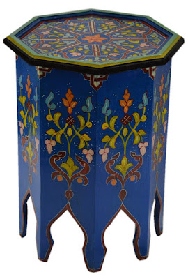 Colorful Moroccan Side Tables Bohemian Accent