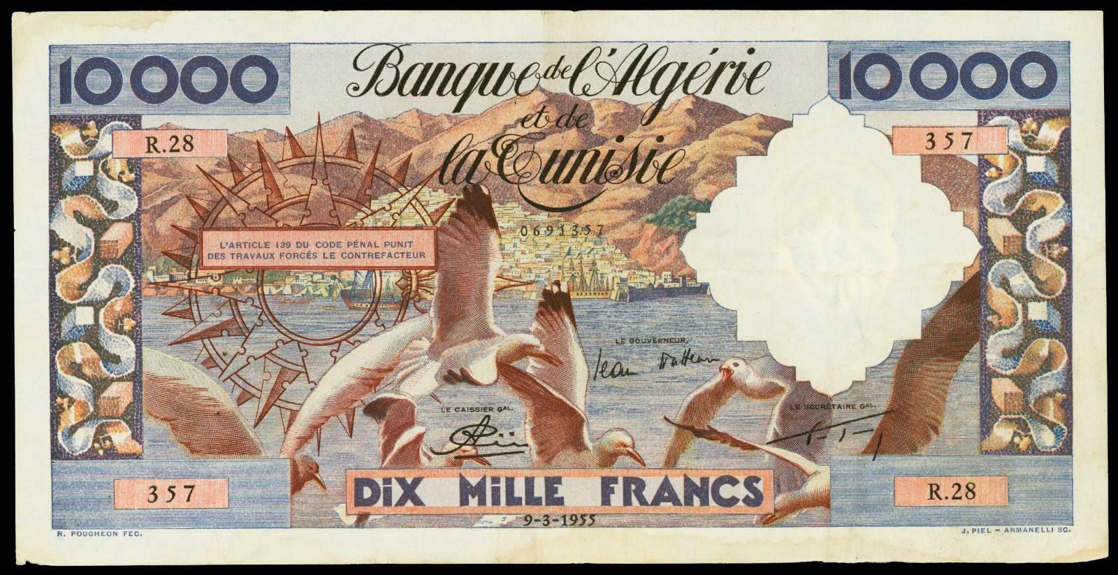Algeria banknotes 10000 Francs
