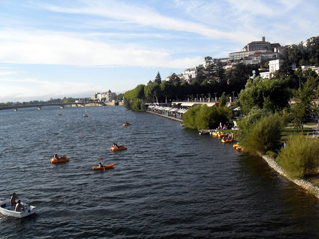 rivera de Coimbra una tarde de Verano