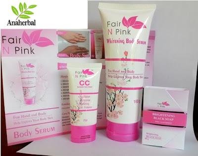 paket fair n pink, produk pemutih tubuh lengkap, fair n pink serum pemutih untuk wajah,