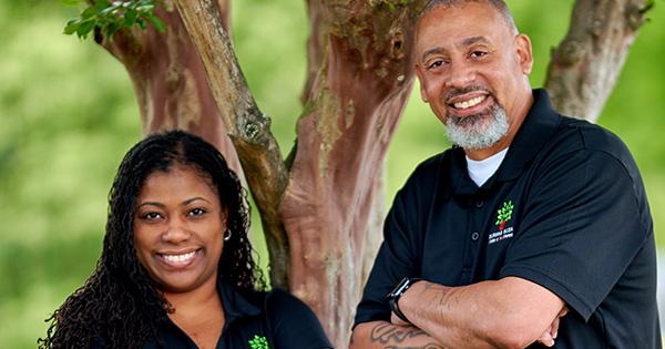 Nikki and Antonio Carrington, founders of Burning Bush Oils
