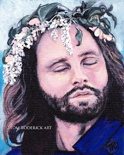 Jim Morrison by Boulder portrait artist Tom Roderick