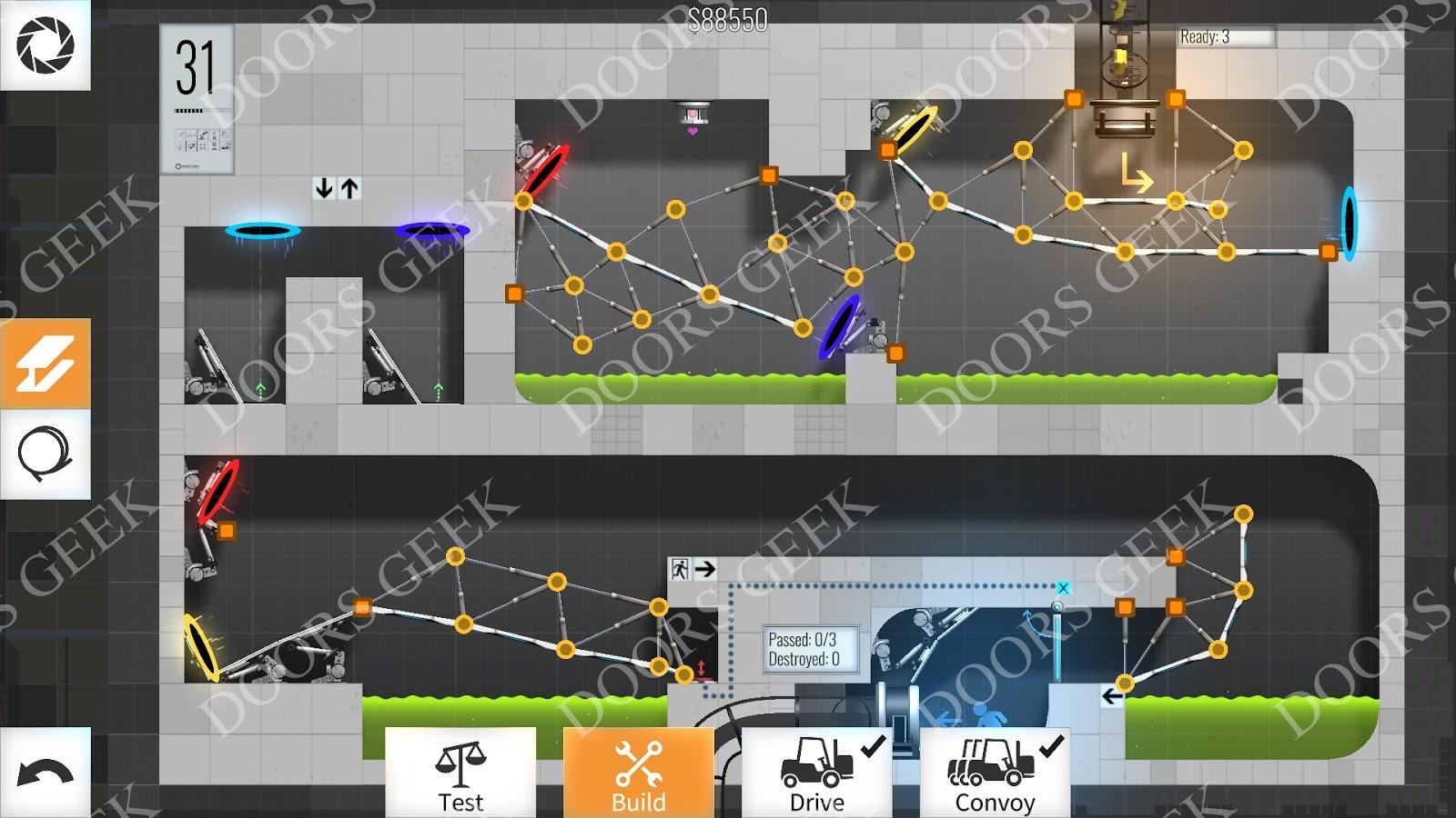 Bridge constructor portal level 31 convoy solution doors for Solution wordbrain cuisine