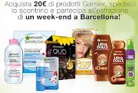 Logo Con Garnier e Conad ''Prova a vincere un weekend a Barcellona''
