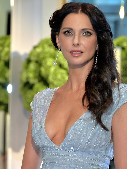 Frederique Bel arrives at the Monaco Red Cross Gala