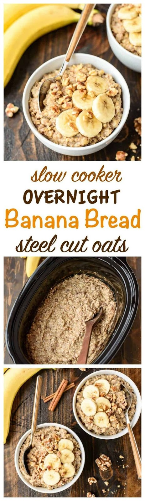 Best Overnight Slow Cooker Steel Cut Oats with Banana