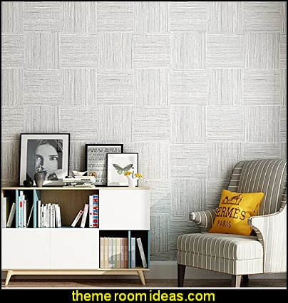 plain cotton nonwoven wallpaper simple solid-colored stripes