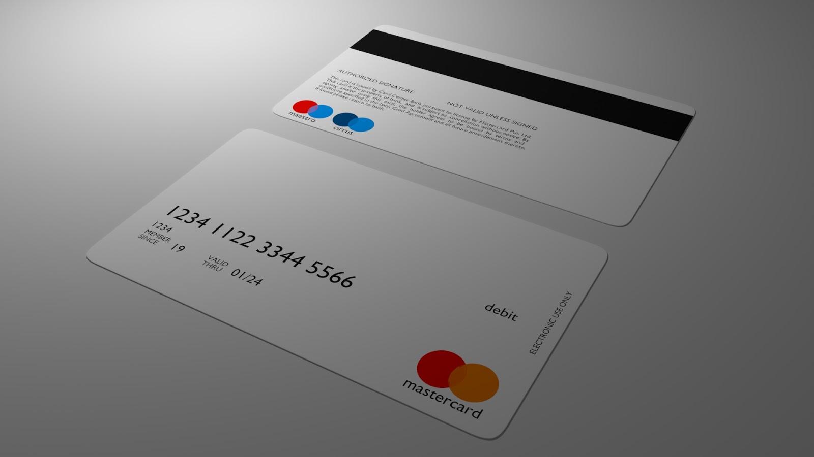 Free 3D Debit Card .blend file