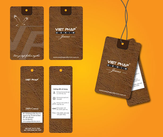 In thẻ bài, thẻ treo, nhãn mác quần áo, price tag đẹp, giá rẻ tại Hà Nội Việt Pháp