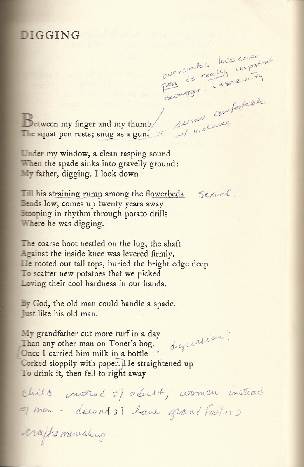 wrecklamation seamus and me digging was the first poem of seamus heaney s that i experienced my class notes from my year at trinity college in dublin really make me wonder why i ever