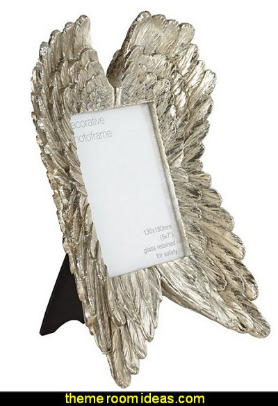Angel Wings Gold Photo Frame  mythology theme bedrooms - greek theme room - roman theme rooms - angelic heavenly realm theme decorating ideas - Greek Mythology Decorations - heavenly wall murals - asngel wings decor - angel theme bedrooms