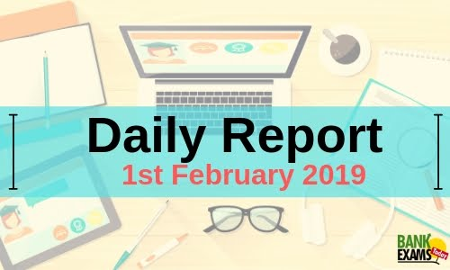 Daily Report: 1st February 2019