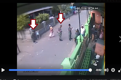aksi brutal tni diiringi ambil uang kotak infak masjid