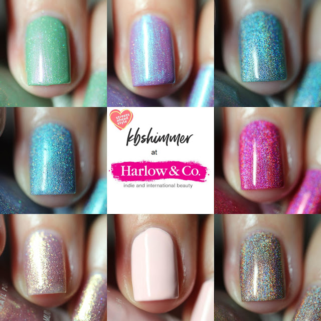 KBShimmer Wanderlust Collection Summer 2018 swatches by Streets Ahead Style