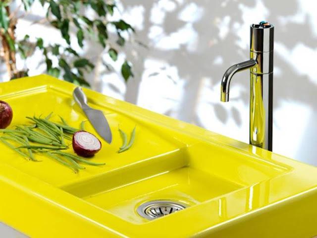 Multi functional Modern Yellow Sink