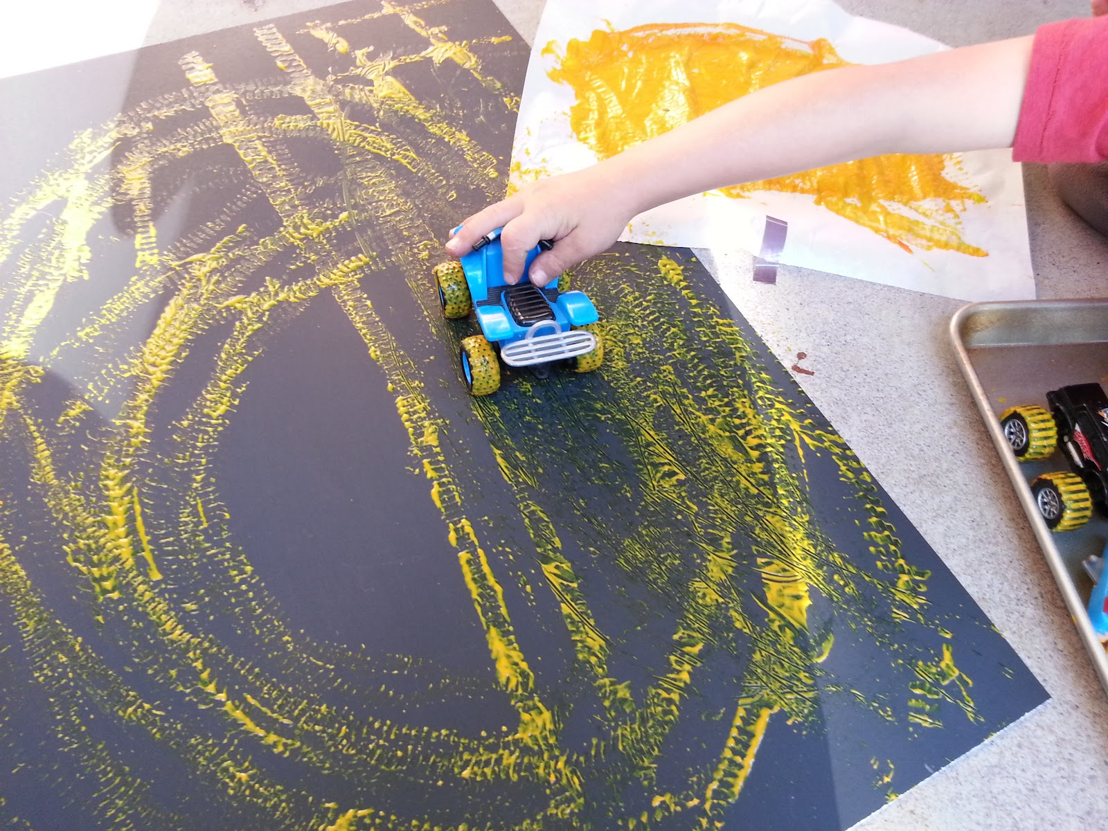 Choices For Children: Painting With Cars
