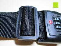 Band verstellen: Neon-Strength kofferband/gepäckgurt mit TSA-Schloss