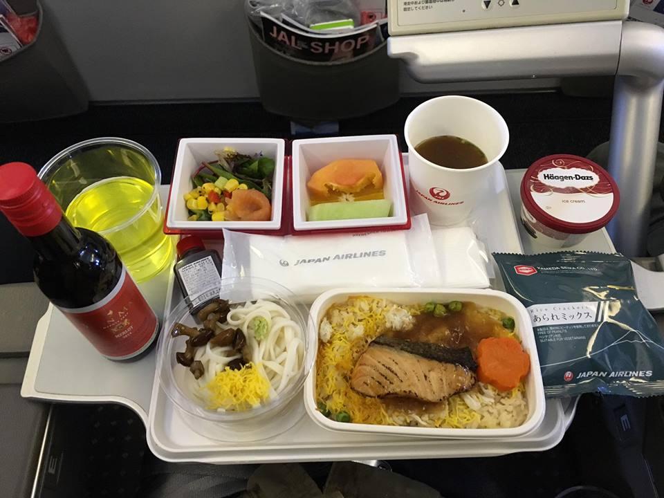 食在空中 往東京 日本 航空 經濟艙 飛機餐 JAL JAPAN AIRLINES / Hong Kong - - SeeWide