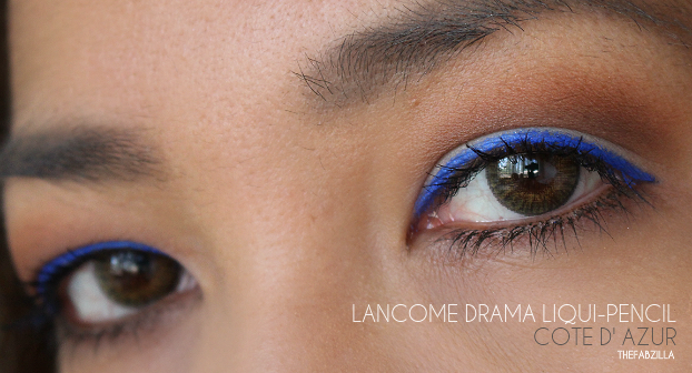 lance drama liqui-pencil cote d'azur, Lancome Drama Liqui-Pencil, Review, Swatch, #Dramafordays