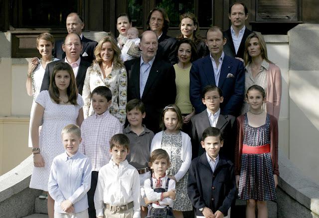 La familia de Simeón de Bulgaria en Sofía
