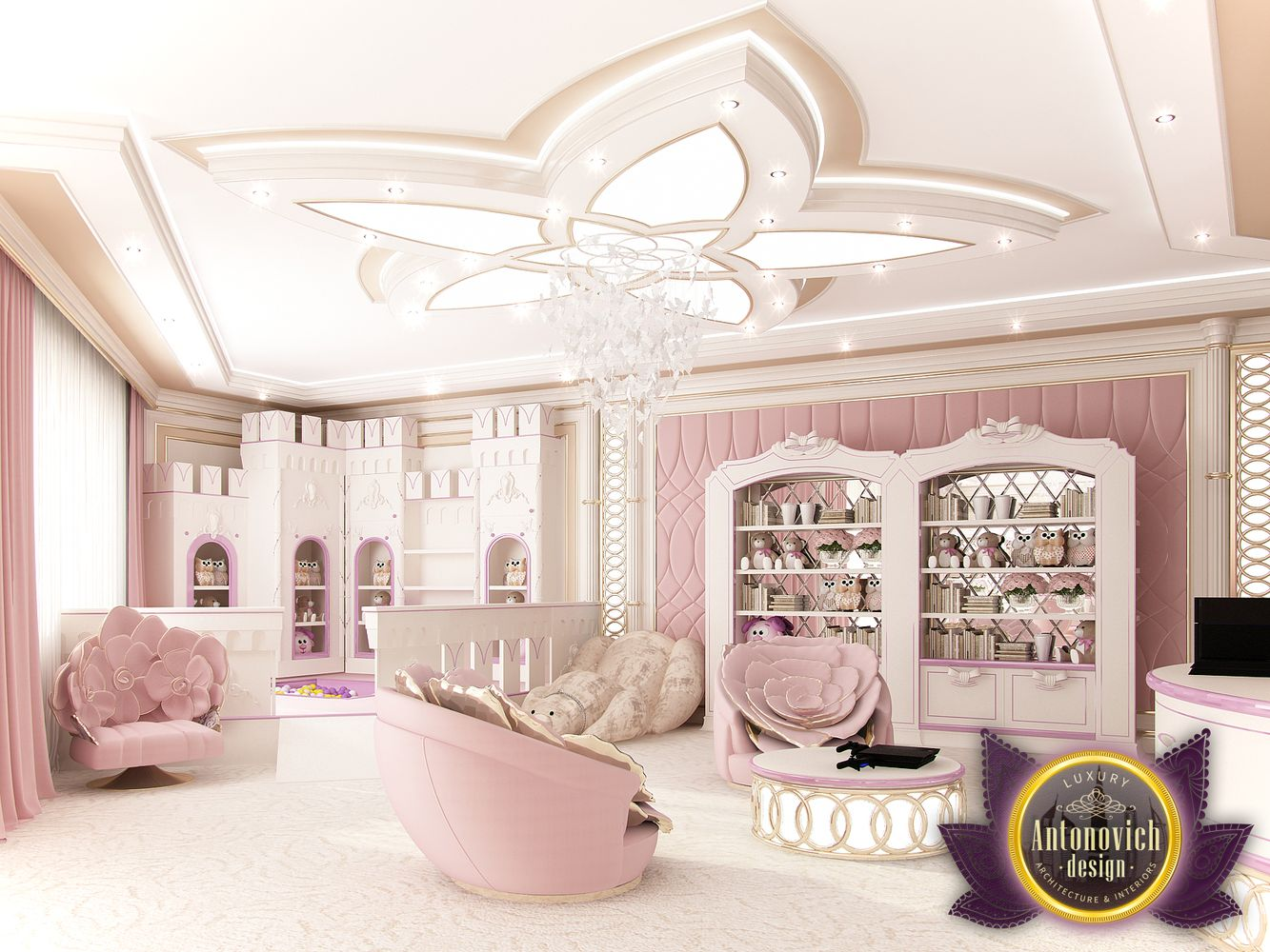 Pink Bedroom Decor Luxury Antonovich Design Uae Interior Decoration By