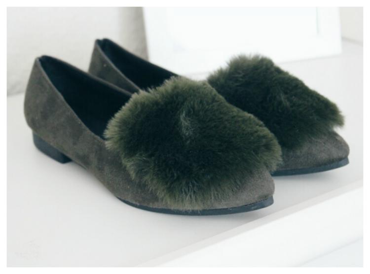 zapatos pelo verde