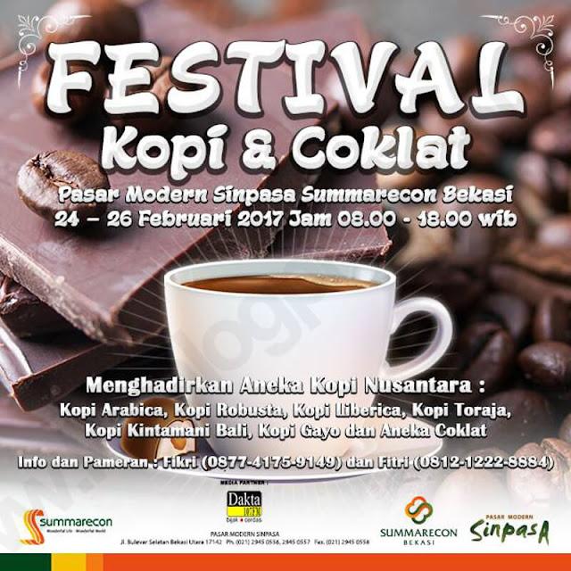Festival Kopi dan Coklat Bekasi Segera Datang, Yuk Hangatkan Tubuh dengan Berbagai Jenis Kopi Nikmat