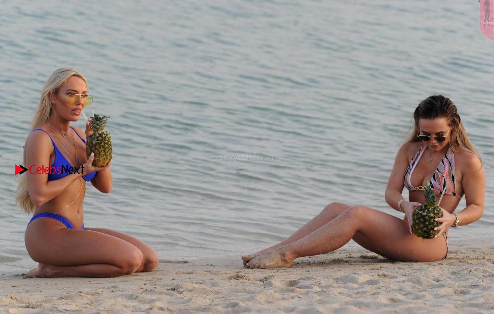 Amber Turner Beautiful Ass WOW in Blue Bikini Thongs ~ SexyCelebs.in Exclusive