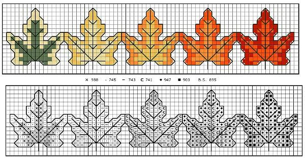 de borduurvrouw borduurpatroontjes herfst