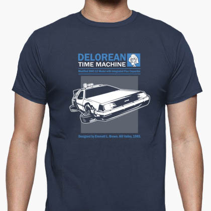 Camiseta Delorean Time Machine