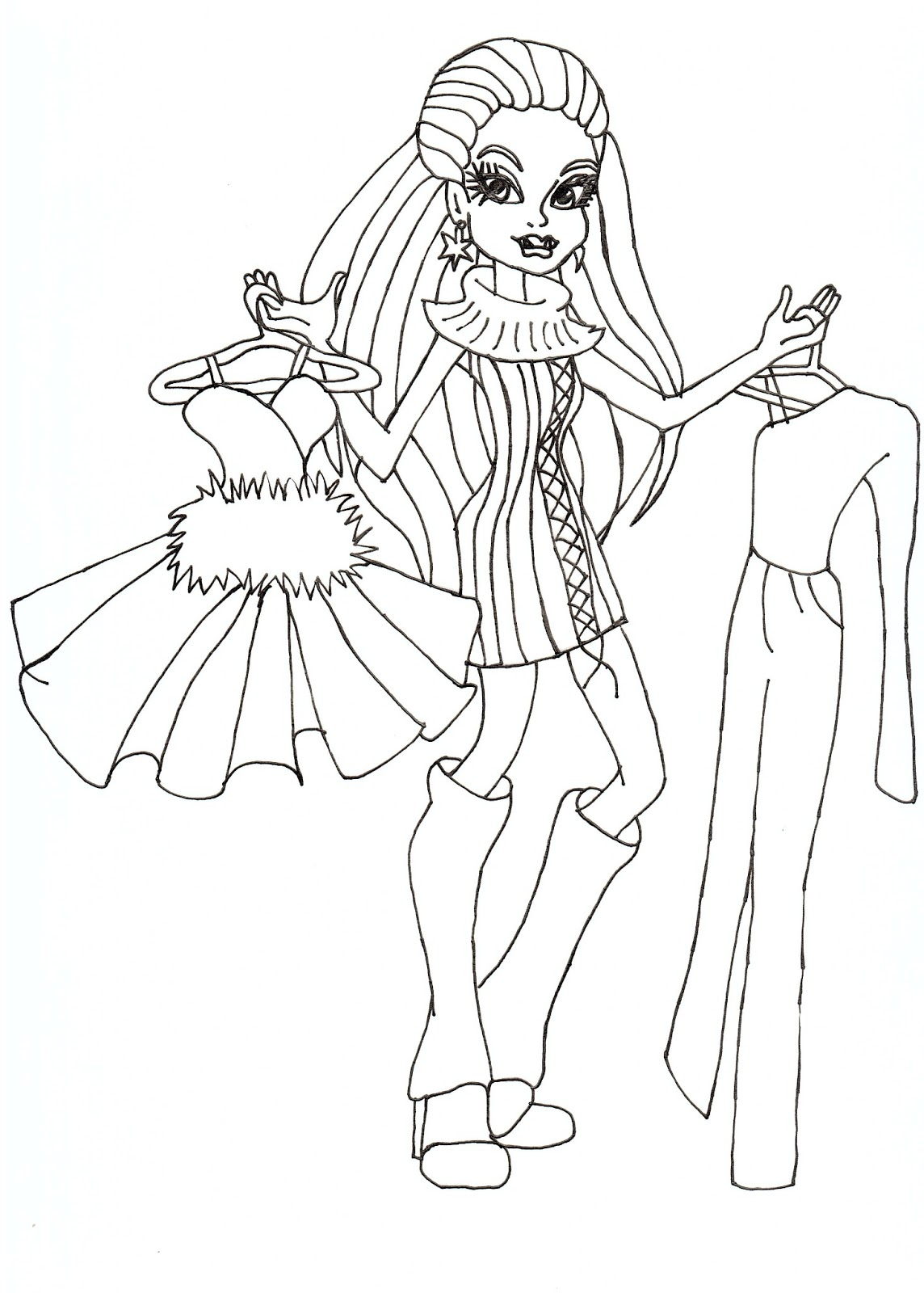 Free Printable Monster High Coloring Pages: Abbey I love