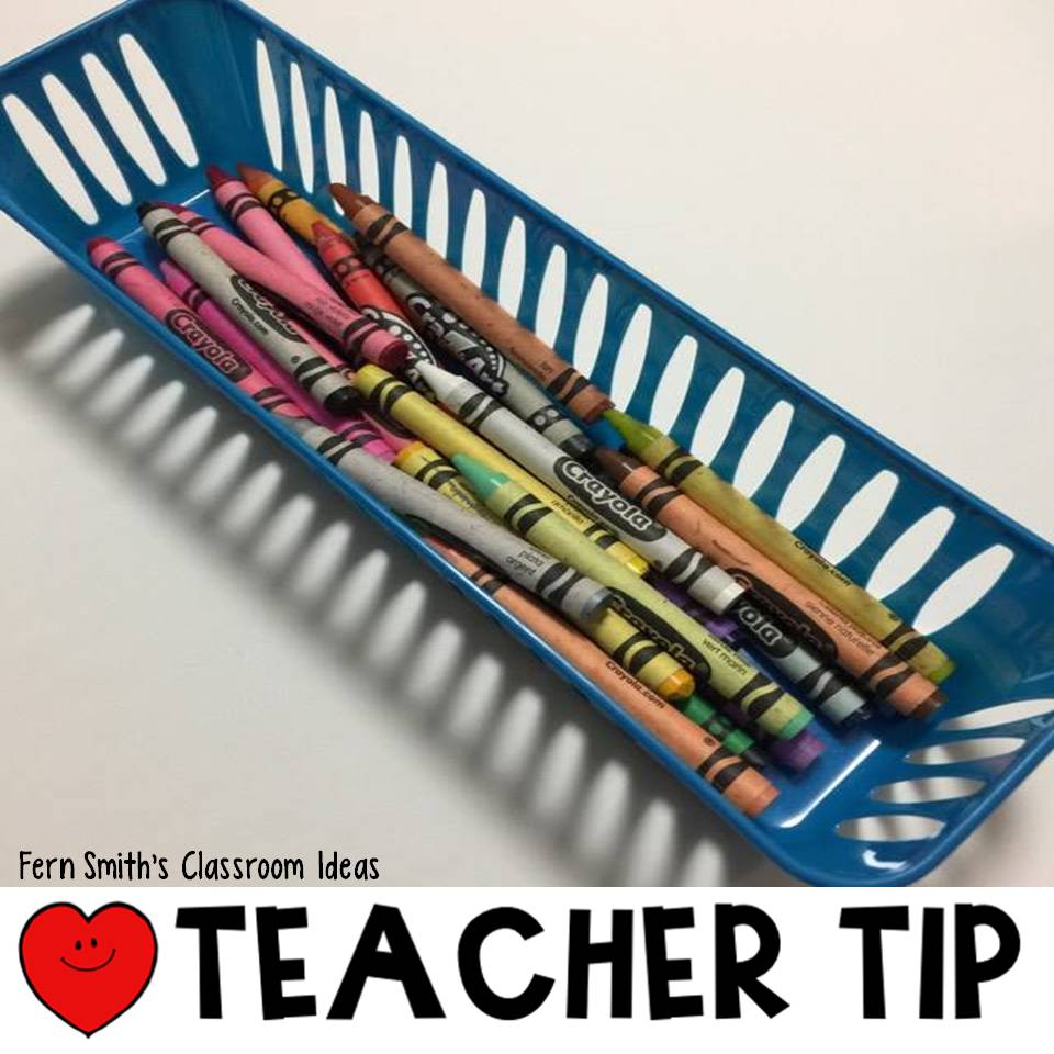 Crayon tips to help your classroom management with some classroom organization ideas! AND a freebie too! ♥ From Fern Smith of Fern Smith's Classroom Ideas, guest blogger for Jenny's Crayon Collection!