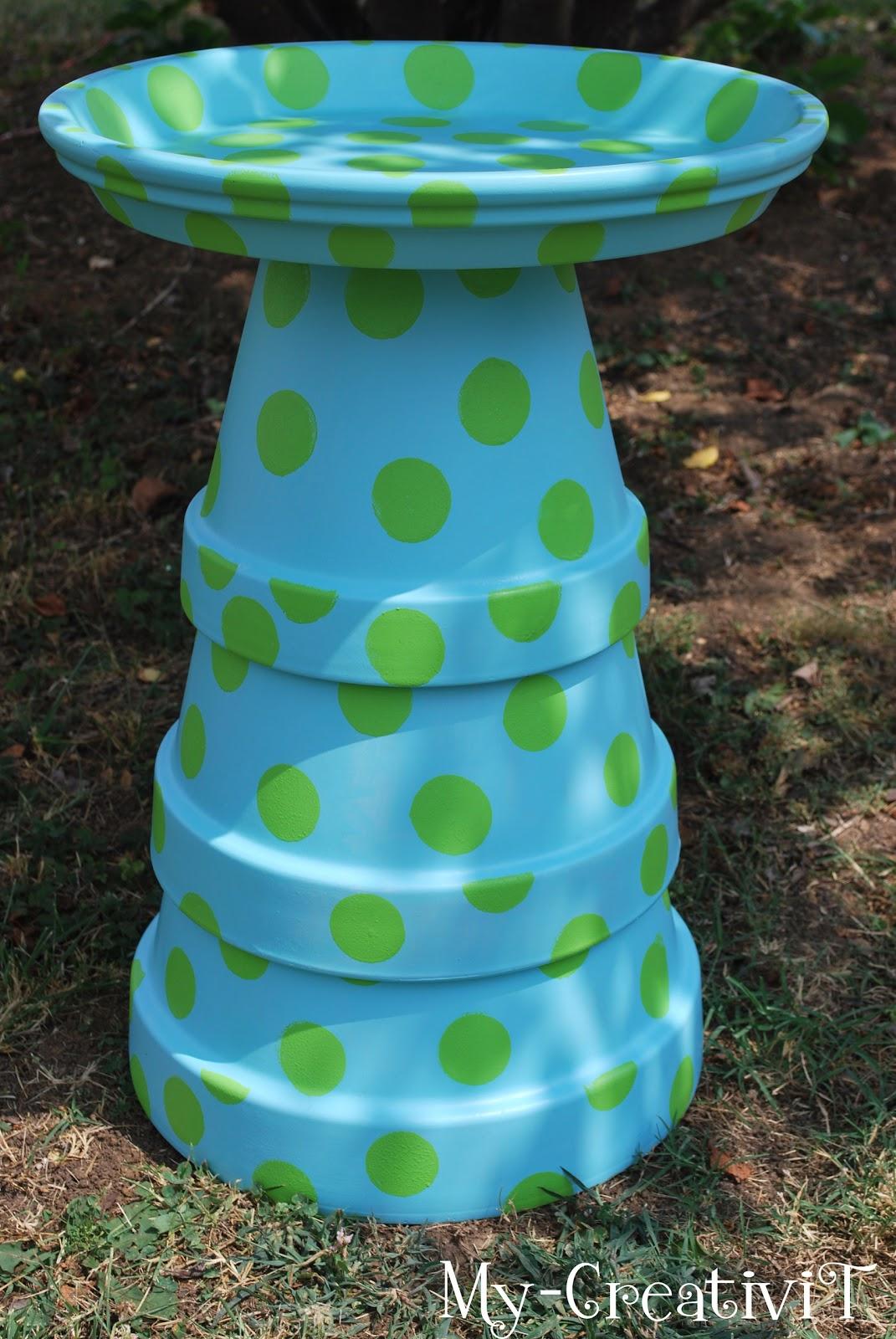 My-CreativiT: DIY  Terracotta Birdbath