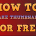 How to generate thumb nails and tags for YouTube video