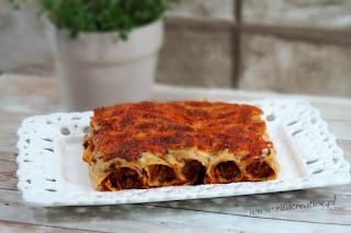 zapiekane cannelloni z mięsem mielonym i sosem beszamel