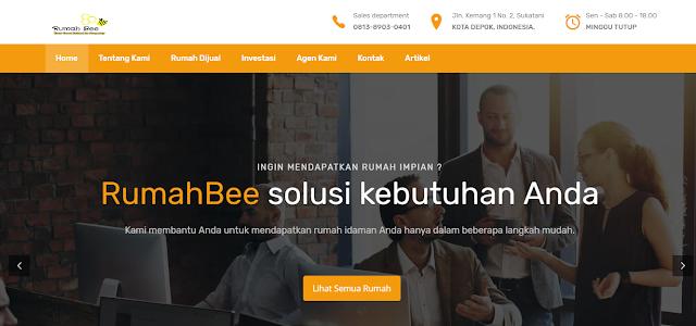 Redesign Website Agen Property Depok Rumahbee.com