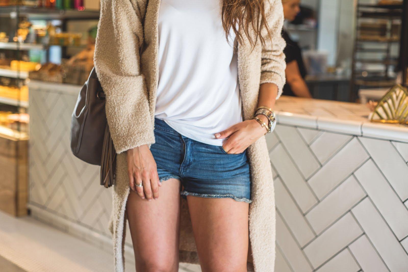 Shorts are always good idea * czyli jeansowe szorty i sweter oversize