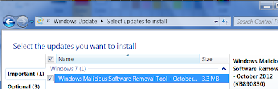 Install Updates in windows 7