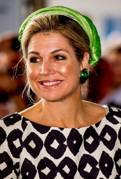 Queen Maxima attended the opening of the European Academy of Neurology congress. Queen wore Natan dress
