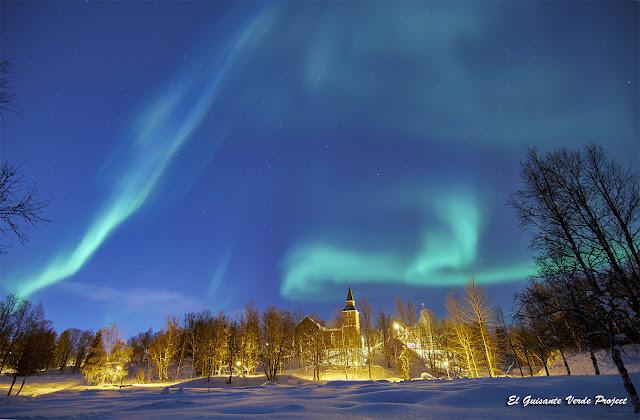 Aurora Boreal en Tromso, Noruega por El Guisante Verde Project