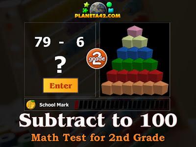 Тест по Математика за 2 Клас - Изваждане до 100