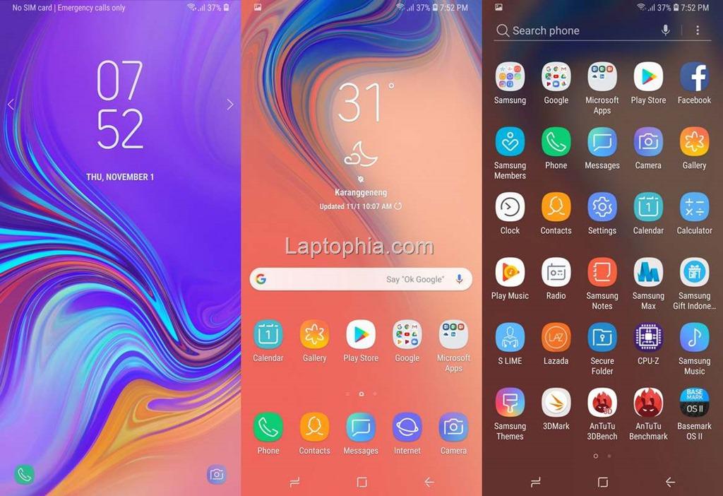 Software & Fitur Samsung Galaxy A7 2018