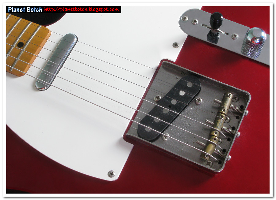 Fender Telecaster bridge plate, scratchplate and pickups