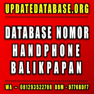 Jual Database Nomor Handphone Balikpapan
